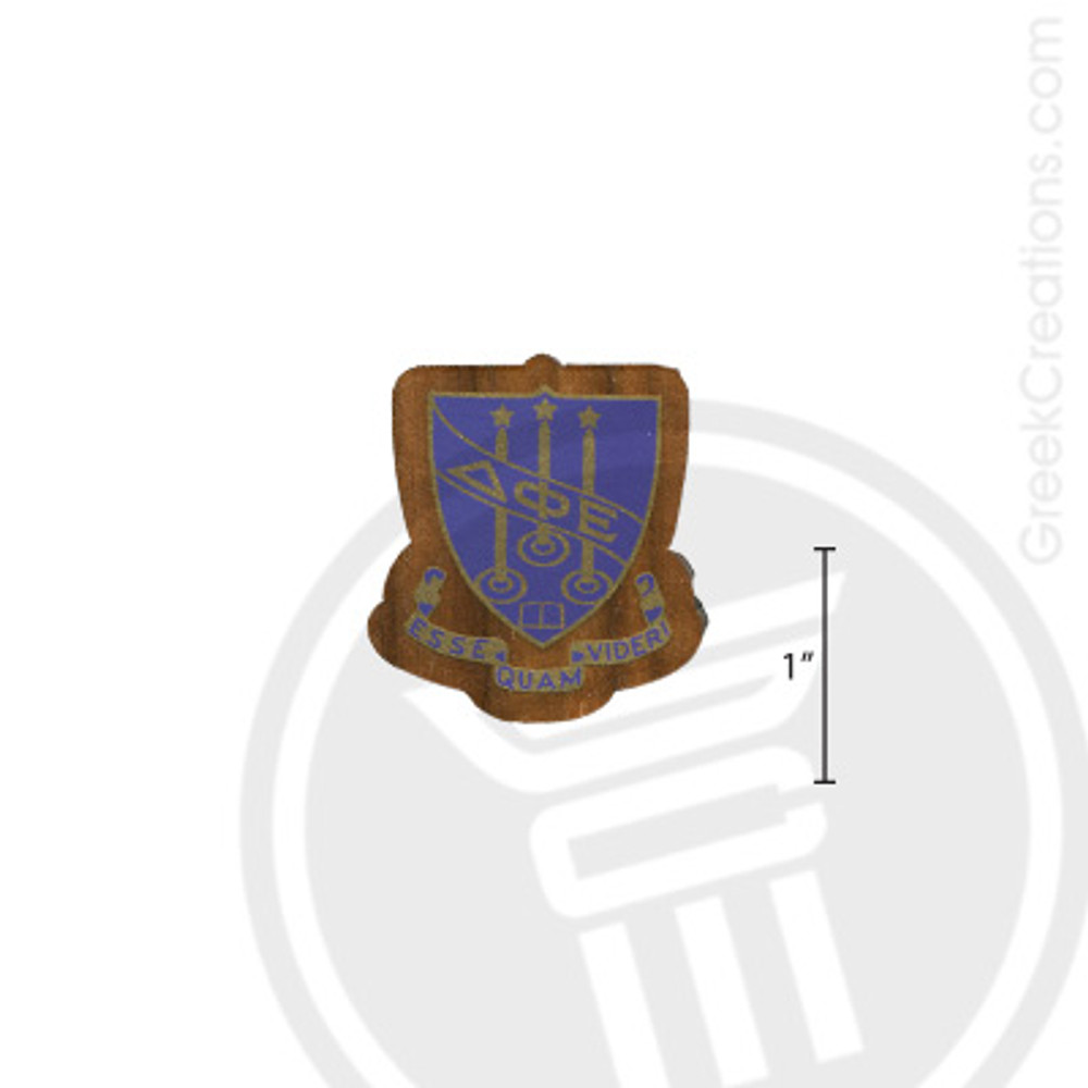 Delta Phi Epsilon Small Raised Wooden Crest