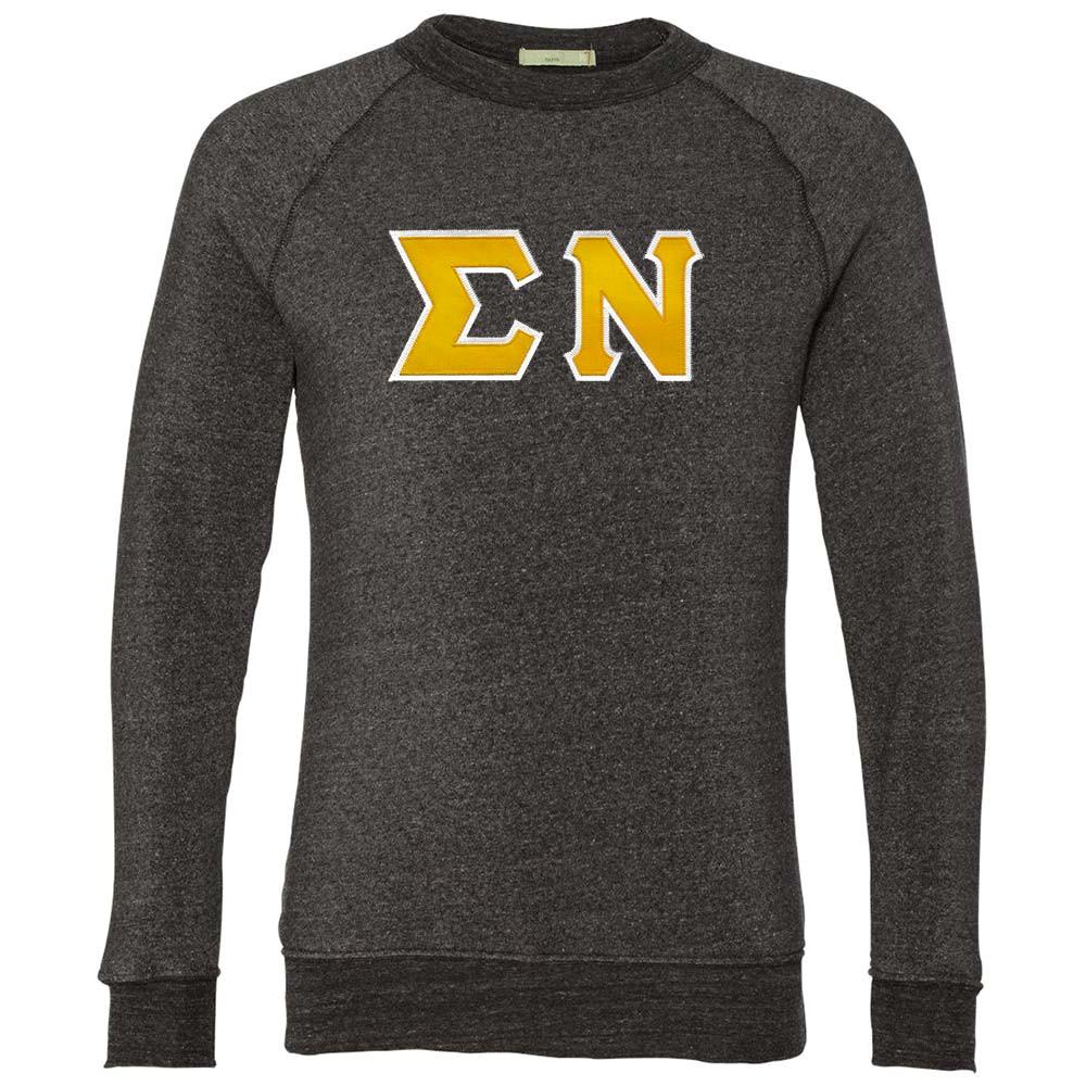 Fraternity & Sorority Lettered Alternative Lightweight Crewneck Sweatshirt