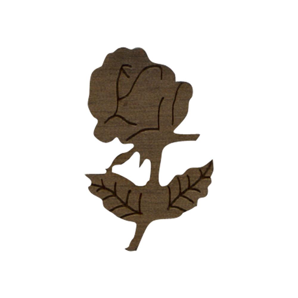 Wooden Rose with Stem Symbol