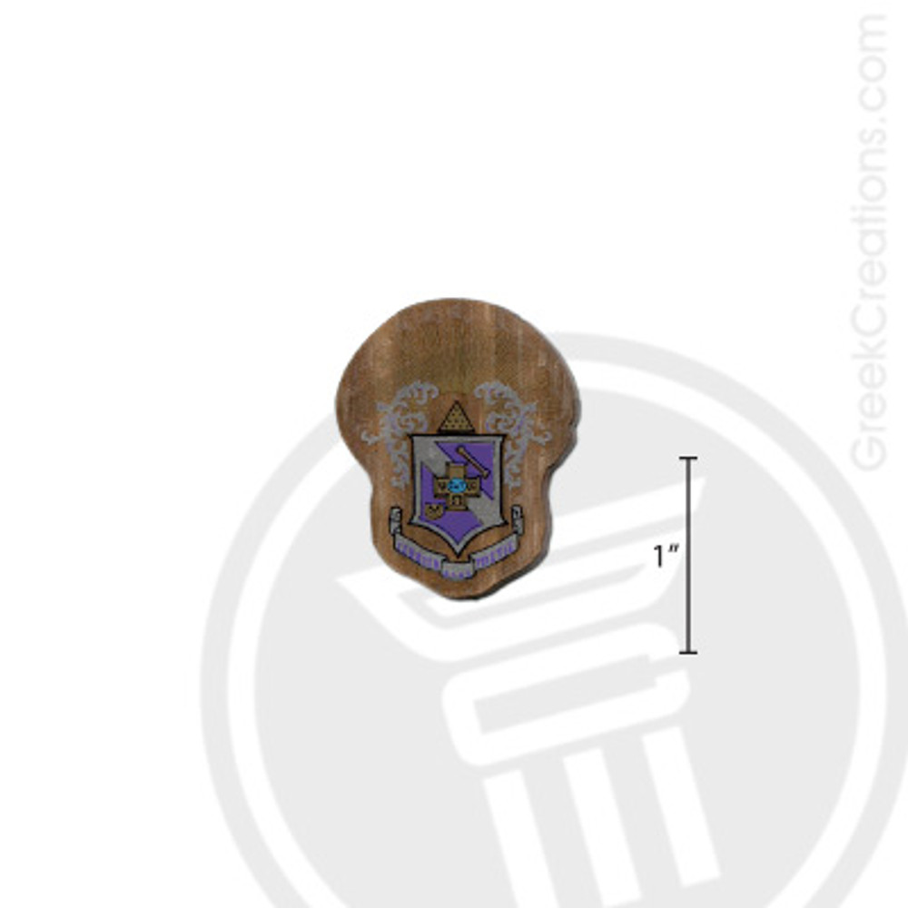 Sigma Pi Small Raised Wooden Crest