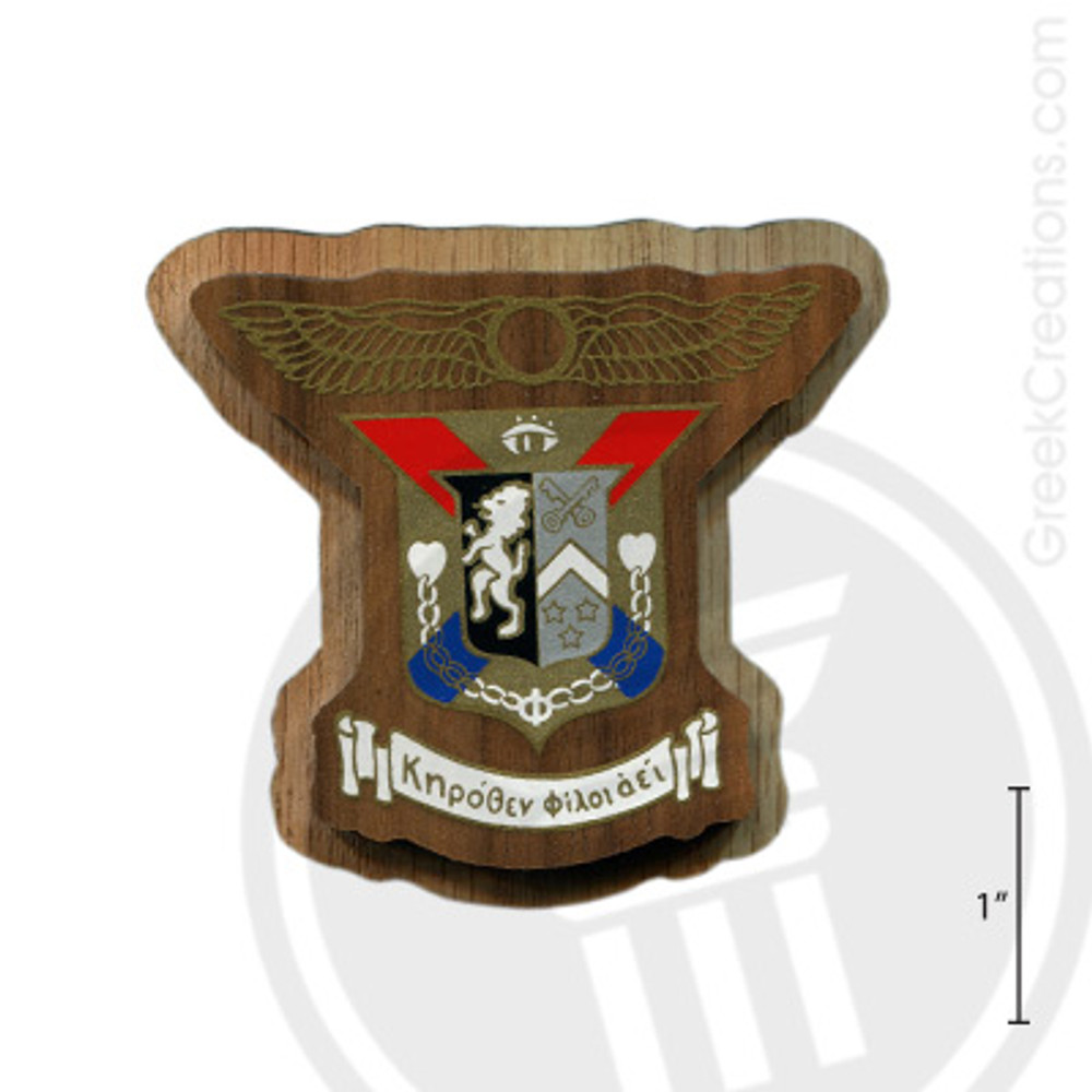 Delta Kappa Epsilon Large Raised Wooden Crest