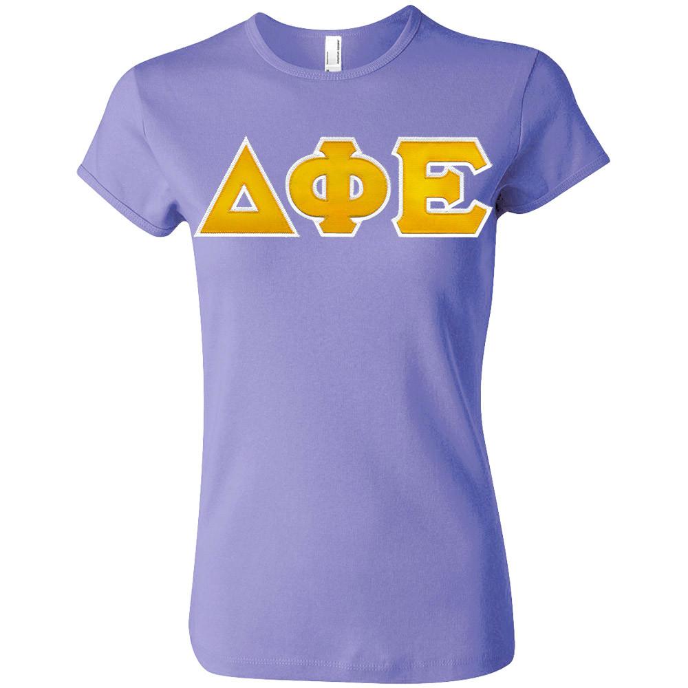 Sorority Lettered American Apparel Fine Jersey T-Shirt