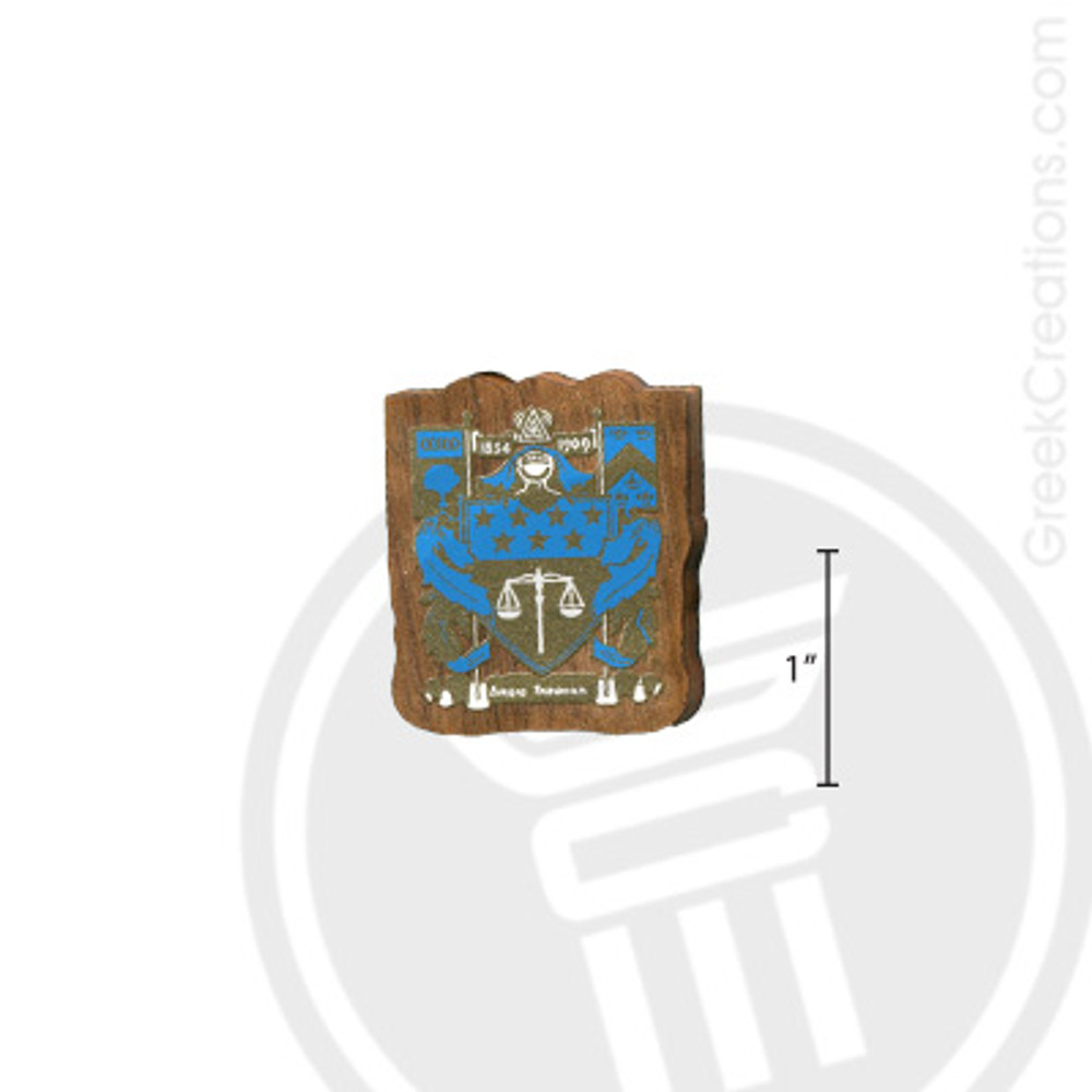 Delta Upsilon Small Raised Wooden Crest