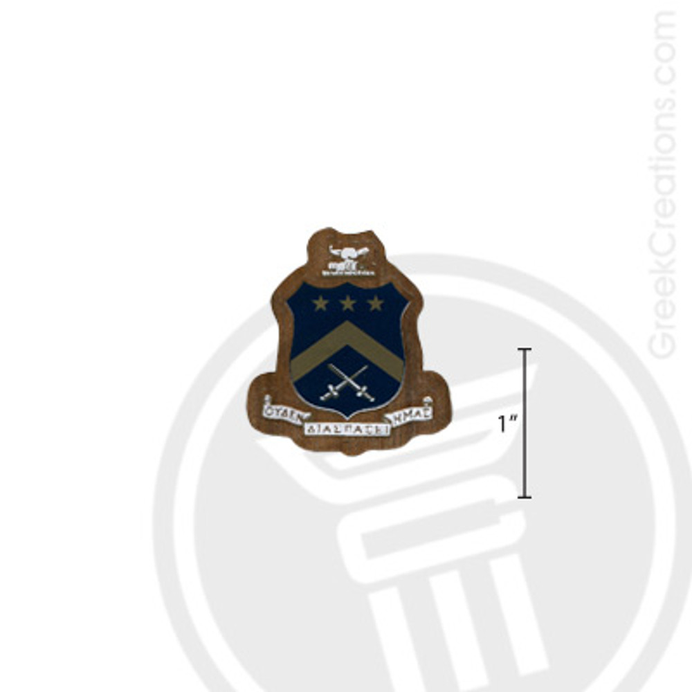 Pi Kappa Phi Small Raised Wooden Crest