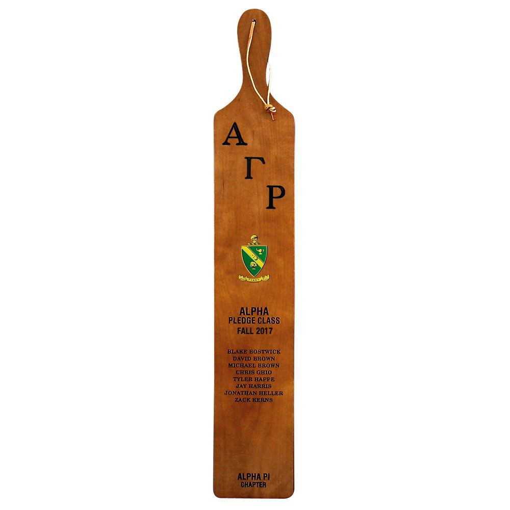 Fraternity and Sorority Campus King Pledge Class 36 Inch Paddle