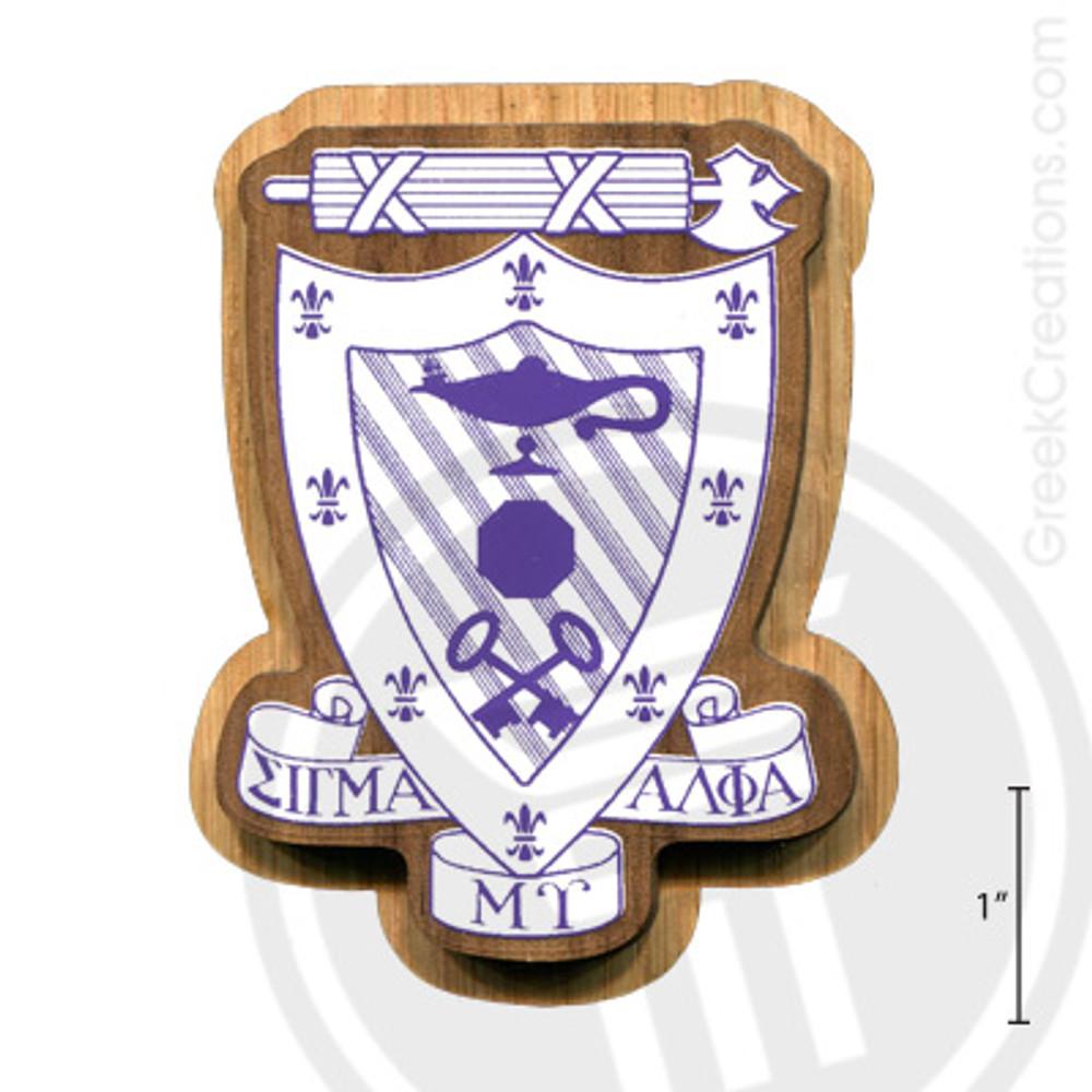 Sigma Alpha Mu Large Raised Wooden Crest