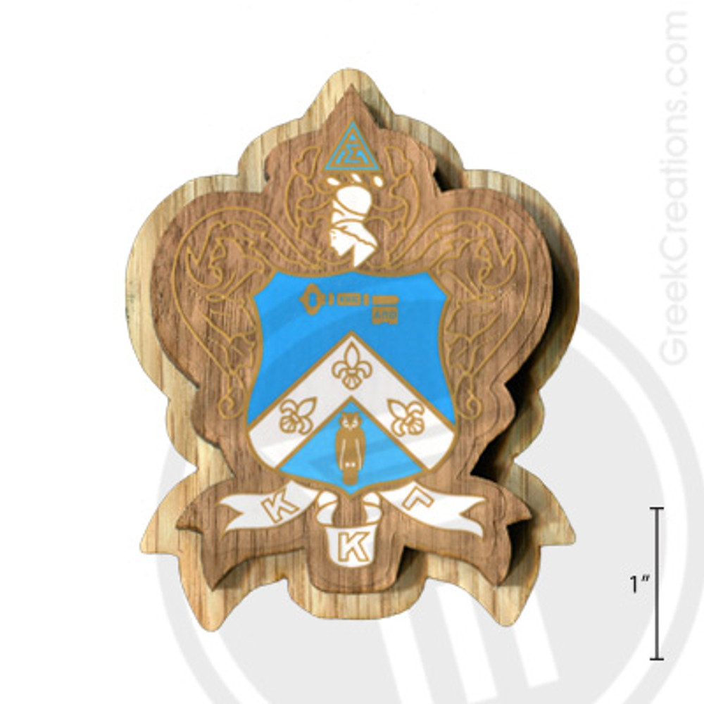 Kappa Kappa Gamma Large Raised Wooden Crest