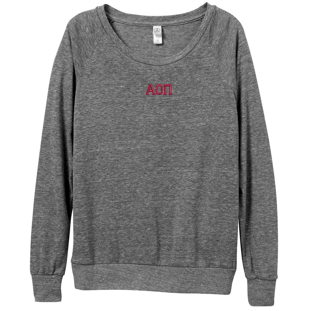 Sorority Embroidered Alternative Ladies Slouchy Pullover