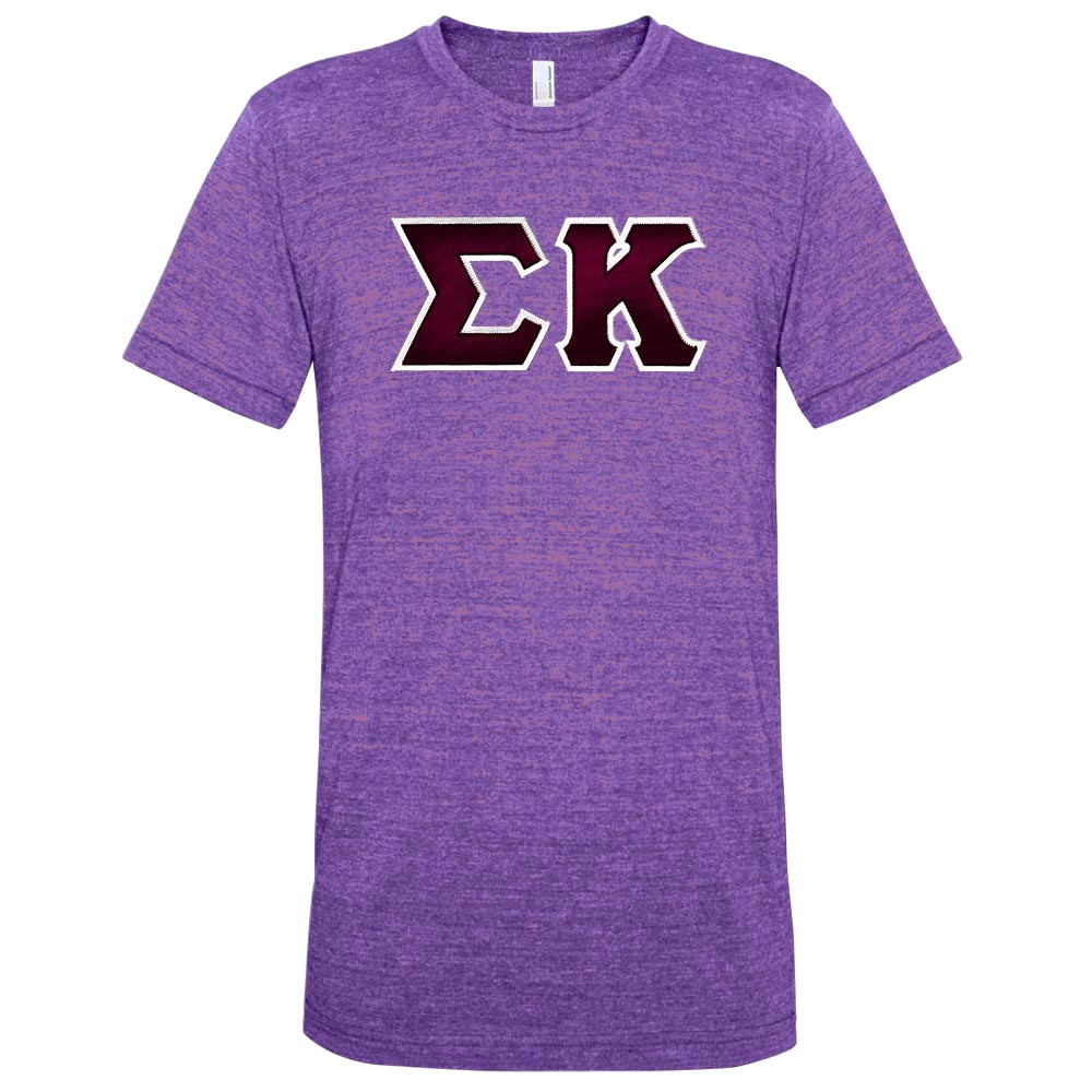 Fraternity & Sorority Lettered American Apparel Vintage Track T
