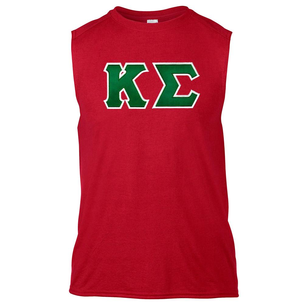 Fraternity & Sorority Lettered Gildan Sleeveless T-Shirt