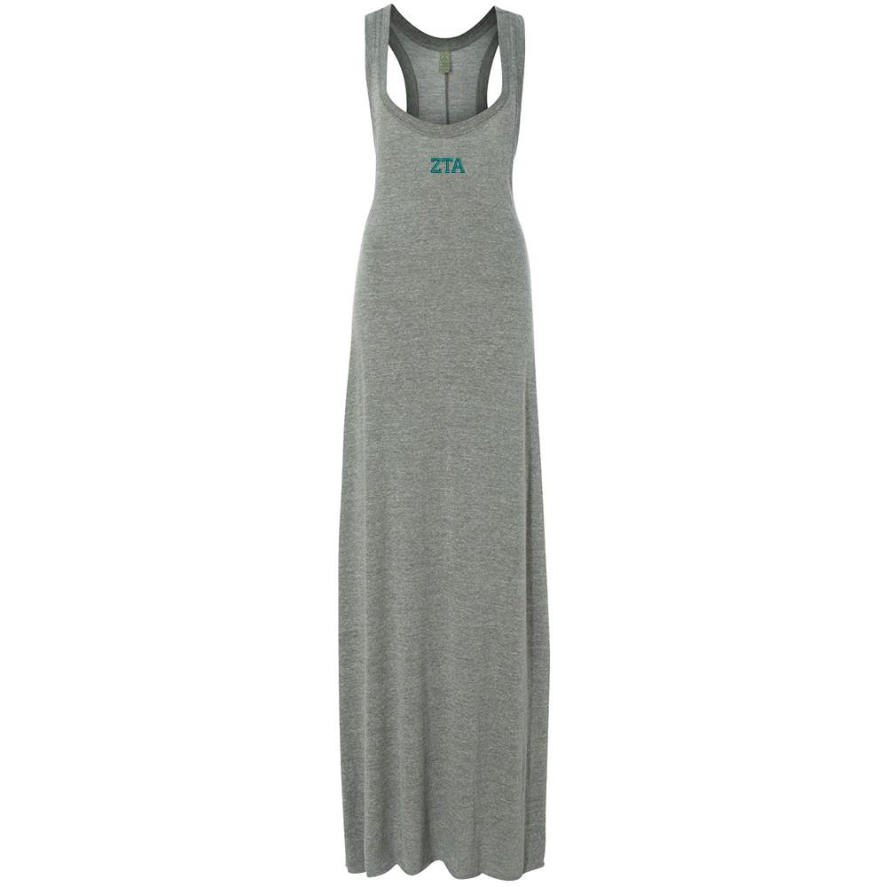 Sorority Embroidered Alternative Ladies Maxi Dress