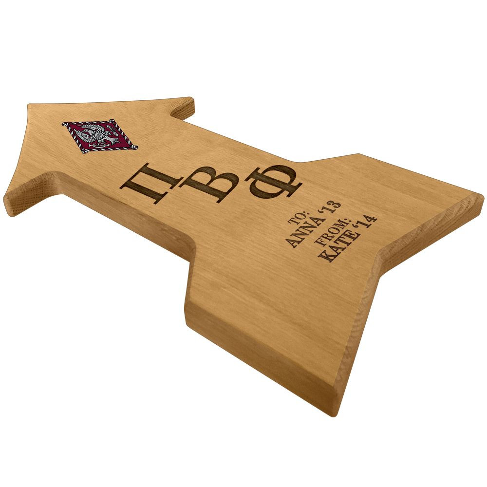 Pi Beta Phi Arrow Paddle Plaque Side