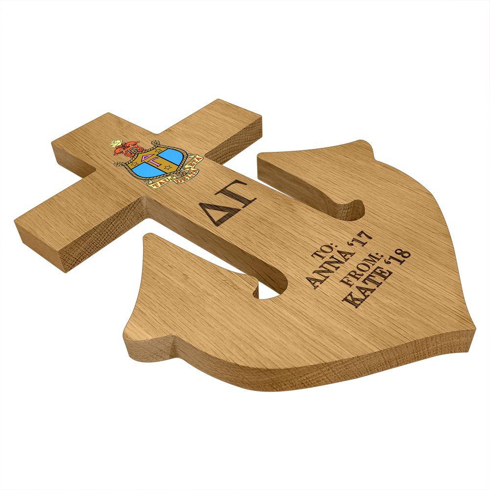 Delta Gamma Anchor Paddle Plaque Side