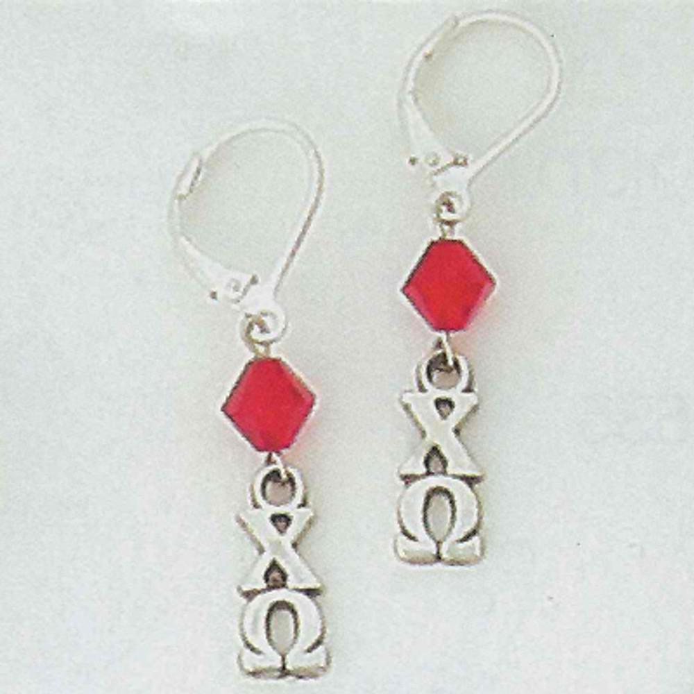 Sterling Silver Lavalier Earrings with Swarovski Crystal