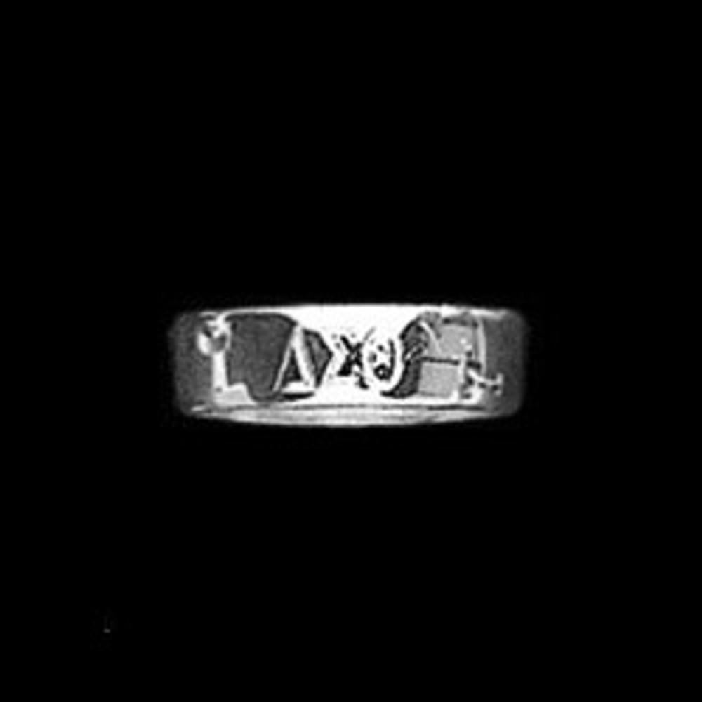 Sterling Silver Engraved Sorority Ring