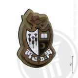 Gamma Phi Beta Large Raised Wooden Crest