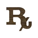 Wooden Rx Pharmacist Symbol
