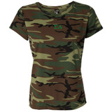 Sorority Embroidered Camouflage Short Sleeve T-Shirt