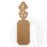 Alpha Kappa Psi 21 Inch Blank Greek Letter Paddle