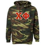 Fraternity & Sorority Lettered Camouflage Hooded Sweatshirt