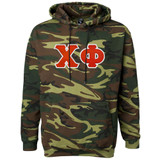 Fraternity & Sorority Lettered Camouflage Hooded Sweatshirt