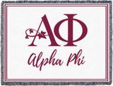 Alpha Phi Letters Blanket