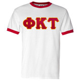 Fraternity & Sorority Lettered  Ringer T-Shirt