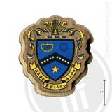 Kappa Kappa Psi Large Raised Wooden Crest