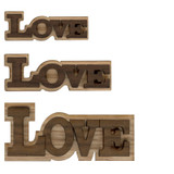 Double Layer Logo Text - Love