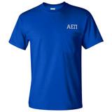 Fraternity & Sorority Embroidered Gildan Pocketed Short Sleeve T-Shirt