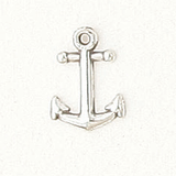 Sterling Silver Large Anchor Symbol