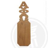 Alpha Phi Omega 21 Inch Blank Greek Letter Paddle