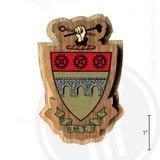 Theta Tau Large Raised Wooden Crest