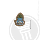 Alpha Delta Pi Small Raised Wooden Crest