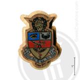 Kappa Psi Large Raised Wooden Crest