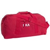 Large Square Duffel with Letter Embroidery