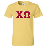 Sorority Lettered Comfort Colors Short Sleeve T-Shirt