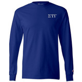 Fraternity & Sorority Embroidered Champion Long Sleeve T-Shirt