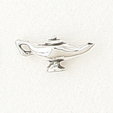 Sterling Silver Lamp Symbol Charm