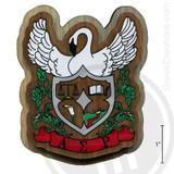 Alpha Sigma Rho Large Raised Wooden Crest