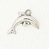Sterling Silver Dolphin Symbol