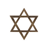 Wooden Star of David Symbol