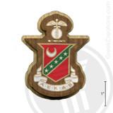 Kappa Sigma Large Raised Wooden Crest