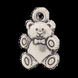 Sterling Silver Teddy Bear Symbol