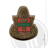 Alpha Chi Omega Large Raised Wooden Crest