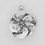 Sterling Silver Pansy Symbol