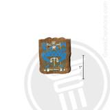 Delta Upsilon Small Raised Wooden Crest