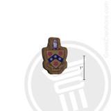 Phi Gamma Delta Small Raised Wooden Crest