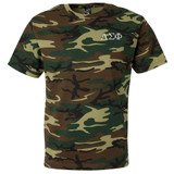 Fraternity & Sorority Embroidered Camouflage T-shirt