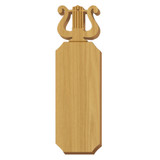 Alpha Chi Omega Lyre Oak Plaque